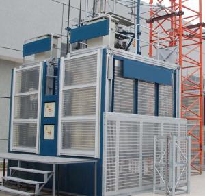 1000kg Safety Electric Construction Material Hoist / Elevator for Passenger