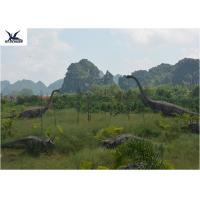 Quality Realistic Ultra Giant Dinosaur Statue For Jurassic Forest Decoration 110/220V for sale