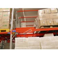 Buy cheap Beverage Industry Push Back Rack Orange Double Deep Pallet Racking Heavy Duty product