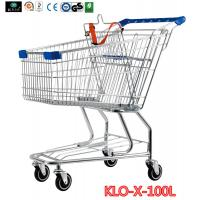 Portable Metal Rolling Grocery Supermarket Shopping Trolley Carts Zinc Plated