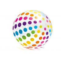 """Jumbo Inflatable Beach Ball 42"""" Large Diameter Crystal Clear With Translucent Dots"""
