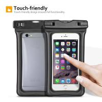 Fully Submersible Waterproof Smartphone Case , Small Waterproof Bag With Air - Filled Frame