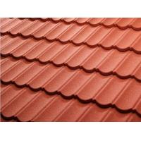 Buy cheap Color Stone Coated Steel Roof Tiles , Stone Coated Roofing Sheet Alum - Zinc Steel Sheet Material product