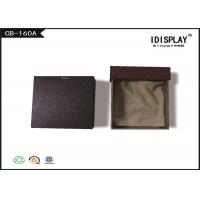 Brown Drawer Luxury Jewelry Gift Boxes Cardboard With Cloth Pad