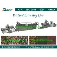 Fully continuous and Automatic Fish / Dog Pet Food Extruder Equipment 1ton -3 ton/h