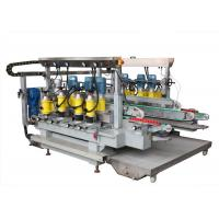 Stainless Steel Material Glass Straight Line Edging Machine 2500 mm with PLC touch screen