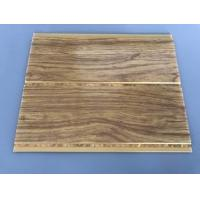 Buy cheap Kitchen Two Golden Line Ceiling PVC Panels Wooden Color Moisture - Proof product