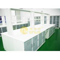 White color university laboratory work benches with monolithic technology