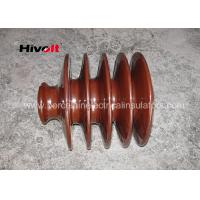 Buy cheap Distribution Lines 33kv Pin Insulator With Zinc Thread Brown BS Standard product
