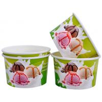 Buy cheap Single Wall Frozen Yogurt Paper Cups , Paper Ice Cream Pint Containers product