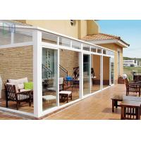 Buy cheap Portable White Aluminium Frame Greenhouse With Tempered Glass House Roof product