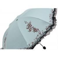 Buy cheap 4 four Folding Unique Rain Umbrellas Black Lace Lace Outdoor UV Protection with Custom Logo from wholesalers