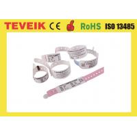 Buy cheap Disposable Insert Card Style Patient Id Wristband / Vinyl Custom Hospital Wristbands With Pocket product