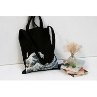 Buy cheap 100% Canvas Reusable Black Tote Bags - 12oz. Thick Material Canvas Shopping Bags product