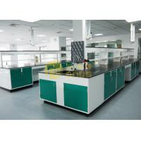 Monolithic science lab table top material glare surface for testing center