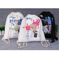 Buy cheap Promotional Travel Storage Custom Canvas Bags , Drawstring Backpack Bag product