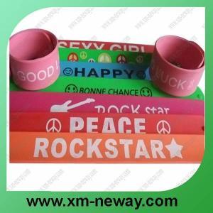 hot selling silicone slap bracelet