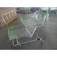Large Capacity Grocery Shopping Trolleys With Four Wheel / Baby Seat 120L