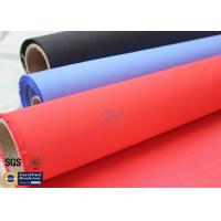 Buy cheap Acrylic Coated Fiberglass Fire Blanket 490GSM 0.43mm Red Fire Safety Protection from wholesalers