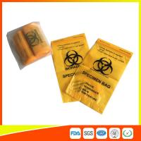 Buy cheap Laboratory Biohazard Specimen Transport Bags Reclosable 3/4 Layer Yellow Color product