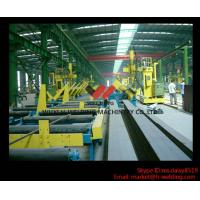 45° Fillet Welding Flat Position Gantry Welding Machine With SAW Welder for H Beam Production