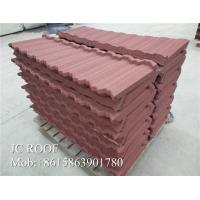 Buy cheap Zn - Al Steel Material Color Stone Coated Steel Roof Tiles 1340x420mm Size product