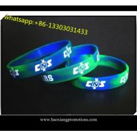 Buy cheap Custom Made Embossed silicone wristband/bracelet in Any Color and Size from wholesalers