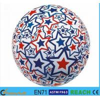Super Bright Light Up Beach Balls , PVC Vinyl 16 Inch Beach Ball With Lively Printing