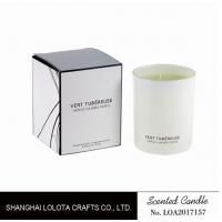 Buy cheap Living Room Natural Soy Candles , Decorative Scented Candles In The Light White Color Bottle product