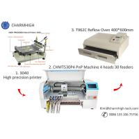 Buy cheap CHMT530P4 SMT Production Line With Pnp Machine Solder Paste Printer T962A Reflow Oven from wholesalers