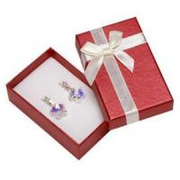 Buy cheap Faux Velvet Insert Jewelry Gift Boxes , OEM / ODM Jewelry Box For Pierced Earrings product