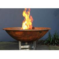 Buy cheap Rusty Finish Corten Steel Fire Bowl , Round Steel Fire Pit Corrosion Stability product