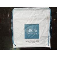 Buy cheap Customized White Plastic Drawstring Backpack Apple Store Shopping Bag product