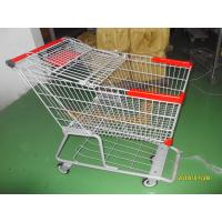 180L Metal Grocery Shopping Trolley E Coating With Flat Casters