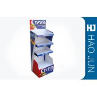 Buy cheap Recyclable Printed Cardboard Display Stands For Snacks , Easy Assembly product