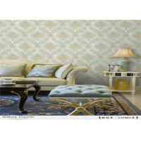 Quality Vinyl Damask PVC Waterproof Wallpaper Strippable Italy Style For Living Room for sale