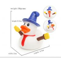 Snowman Shape Rubber duck Funny Christmas Themed Rubber Ducks For Holiday Decoration Outdoor
