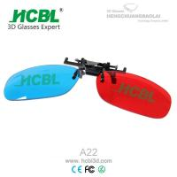 Clip On Complementary Colorful Anaglyph 3D Glasses / Eyewear Disposable 140* 42mm