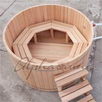 Buy cheap Cedar Fence Wooden Barrel SPA Hot Tub , Wood Fired Bathtub No Electricity product