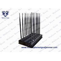 Adjustable 14 Antennas Powerful 3G 4G Phone Blocker WiFi UHF VHF GPS Lojack Remote Control All Bands Signal Jammer