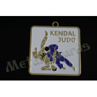 Judo Logo Custom Sports Medals With Gold Silver Copper Plating 60mm Size