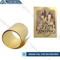 Buy cheap High Precision C26000 C26800 C27000 Brass Metal Sheets , Width 1.0~650mm product