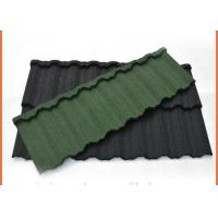 Buy cheap 1340x420mm Galvalume Steel Sheet Material Stone Coated Steel Roofing Eco Friendly product