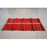 Colored Steel trapezoid Roll Forming Machine For Roofing Sheet , low noise
