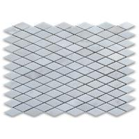 Square Carrara White Marble Mosaic Wall Tiles For Home