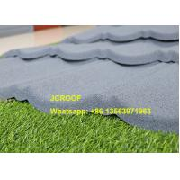 Buy cheap Flexible Black Classic Stone Coated Steel Roof Tiles 0.45mm Thickness In Kenya product