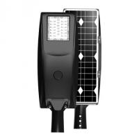 Buy cheap Patent IP66 Die-cust Alumimium PC Lens 30W All in One Black Solar LED Street from wholesalers