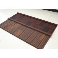Buy cheap Flat Stone Coated Shingles , Stone Coated Steel Tiles 2.8kg Weight & 10 Popular Colors product