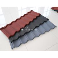 Buy cheap Color Stone Coated Steel Roofing Sheet , Terracotta Color Stone Coated Metal Roof Tile product