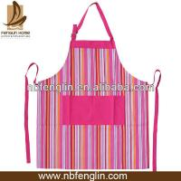 Household Pink Striped Kitchen Aprons